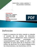 ESTILOS DE DIRECCIÓN, CLIMA LABORAL Y RELACIONES alonso.pptx