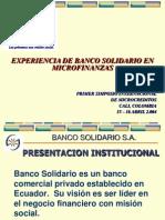 Experiencia de Banco Solidario en Microfinanzas
