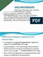 Companies and Partnerships