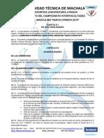 Reglamento Del Campeonato Interfacultades de Futbol Masculino Nueva Utmach 2013