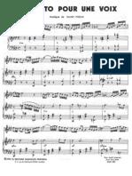 Concerto Pour Deux Voix-Saint Preux