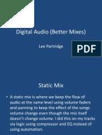 Better Mixes Powerpoint