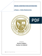 Term Paper - Value Engineering