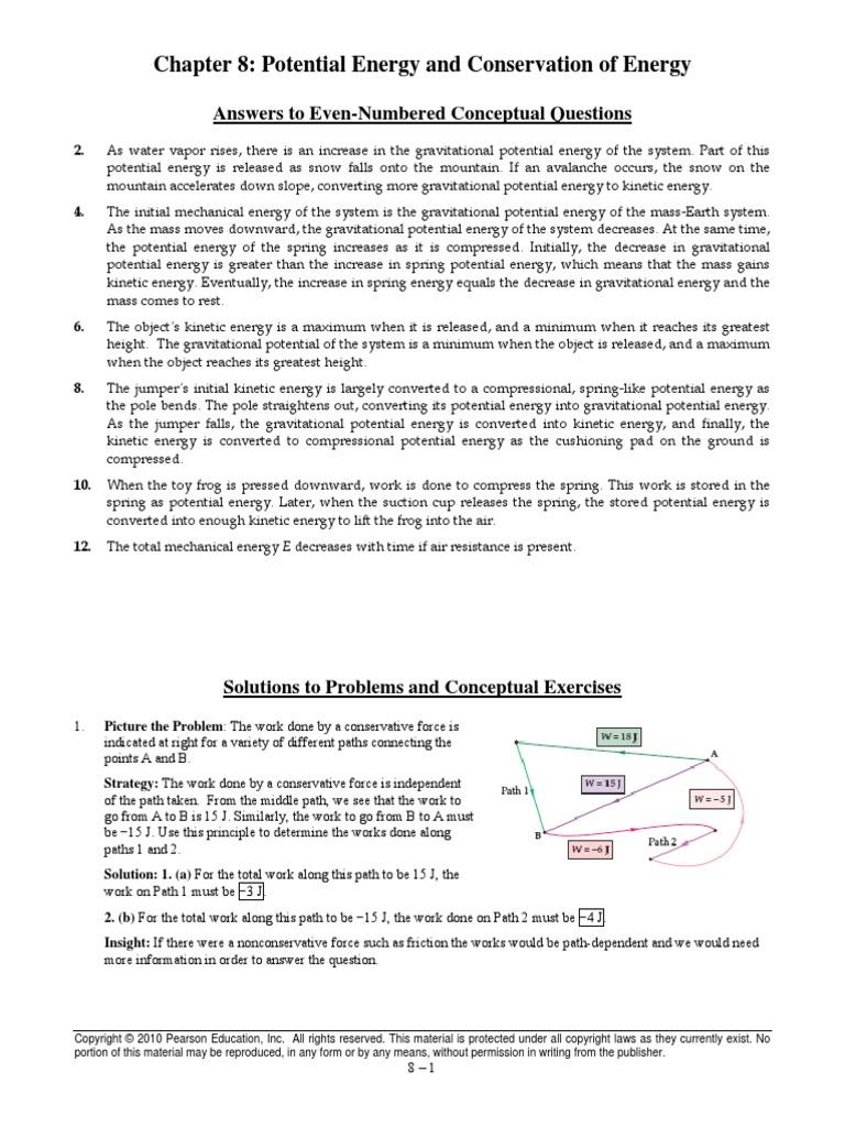 physics chapter 8 answers potential energy mass rh scribd com Light Bulb Circuit Water Bath