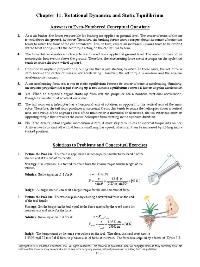 Physics chapter 11 answers torque rotation around a fixed axis fandeluxe Image collections
