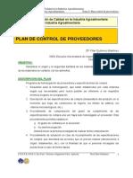 Tema 6. Plan de Control de Proveedores