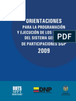 Dnp -2009-Sistema General de Participaciones