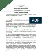 Decreto 849 de 2002