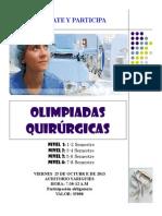 afiche olimpiadas quirurgicas