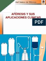 AFÉRESIS  Y  SUS APLICACIONES CLINICAS  ADOLFO LOPEZ MATEOS pptx