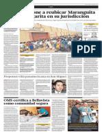 Debate por reubicación de Maranguita y Santa Margarita en Ancón