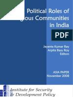 Political Roles of Religious Communities in India