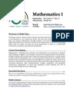 math1 syllabus