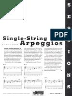 Mike Stern's Single String Arpeggios