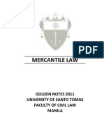 2011 Golden Notes Mercantile Law