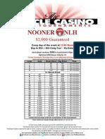 Nooner No Limit Holdem Tournament