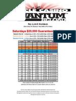 Quantum Reload NLH $20,000 GTD