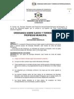 Ordenanza de Ejidos 2012