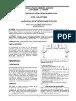 Aplicaciones de La Transformada de Fourier(Paper)