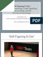 "John Hartley Curtin University ""Storytelling Futures"" CoCreative Communities forum"