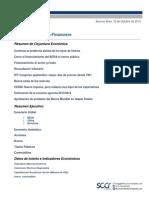 Informe Económico Financiero (Macroeconomía y Finanzas Argentina) Octubre 2013 - SCCR Consultores
