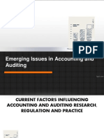 Emerging Issues in Accounting and Auditing