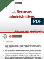 RECURSOS ADMINISTRATIVOS y Ejecución de las resoluciones administrativas