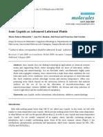 Ionic Liquids as Advanced Lubricant Fluids