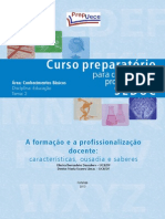 EDU T6 - A Formacao e a Profissionalizacao Docente