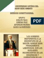 CONSTITUCIONAL Constituciones Liberales Del Ecuador TRES