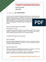 Protocolos de Investigacion Coeducacion