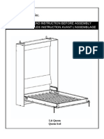 Instructions to Build a Queen Size Murphy Bed