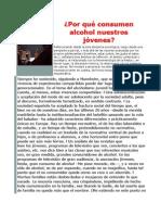 Por qué consumen alcohol nuestros jóvenes