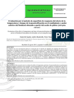Efecto de La T y t de Transesterifiacion en El Rendimiento de Biodiesel (Documentado)