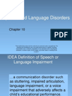 chapter 10 - speech and language disorders