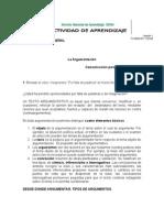 ACTIVIDAD DE APRENDIZAJE ARGUMENTACIÓN