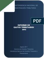 Gastos Tributarios 2012