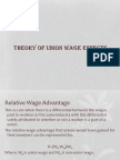 Theory of Union Wage Effects