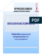 destilacion multicomponente