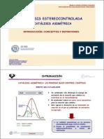 Catalisis- Sintesisestereocontrolada