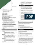 390981 Notes on Marketing Basics