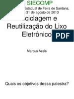 PalestraReciclagemEReutilizacaodoLixoEletronico