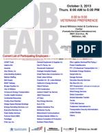 Fall Job Fair 10.3.13
