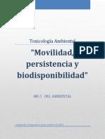 Movilidad, Persistencia y Biodisponibilidad!