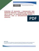 Estrategia de Educacion y Comunicacion y Guia Para La Implementacion y Gestion Operativa