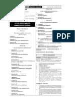 LEY Nº 27444 –LEY DEL PROCEDIMIENTO ADMINISTRATIVO GENERAL.