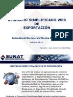 2013 1 SUNAT Exportacion Simplificada via WEB