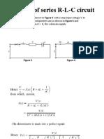 Analysis of Series R-L-C Circuit