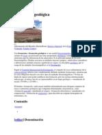 Formación geológicas