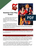 Budokai Fast Play Rules